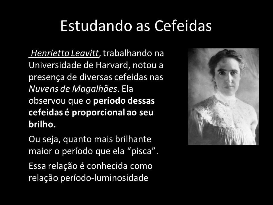 Estudando as Cefeidas Henrietta Leavitt, trabalhando na Universidade de Harvard, notou a presença de diversas cefeidas nas Nuvens de Magalhães. Ela ob
