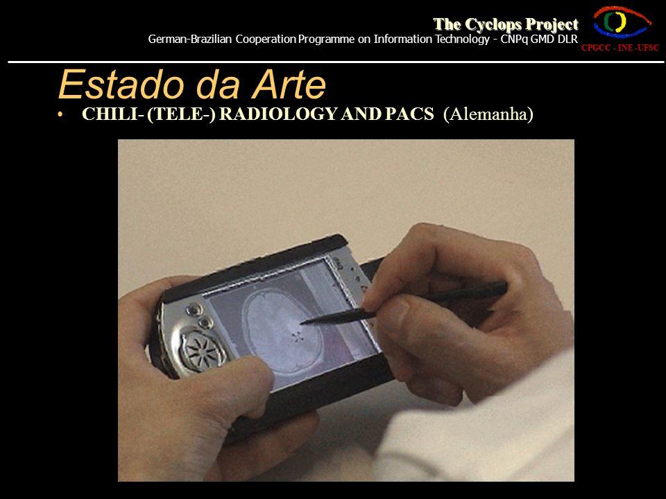 Estado da Arte CHILI- (TELE-) RADIOLOGY AND PACS (Alemanha) CPGCC - INE -UFSC The Cyclops Project German-Brazilian Cooperation Programme on Informatio