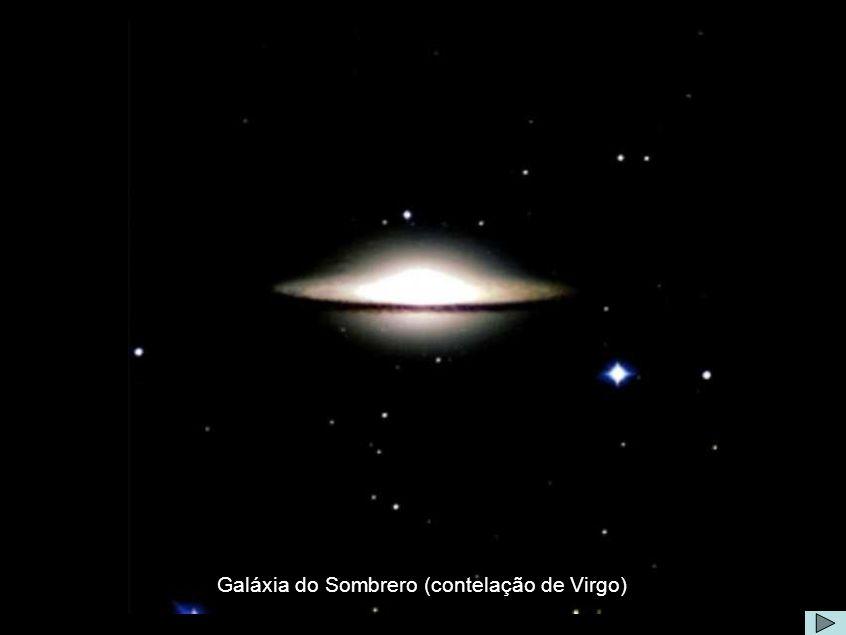 Galáxia de Sombrero Comentário: Seu nome Sombrero é devido a sua aparência com um Chapéu.