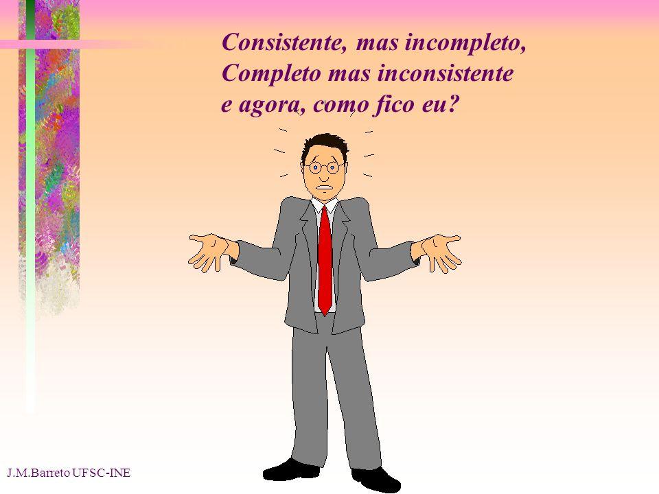 J.M.Barreto UFSC-INE Consistente, mas incompleto, Completo mas inconsistente e agora, como fico eu?