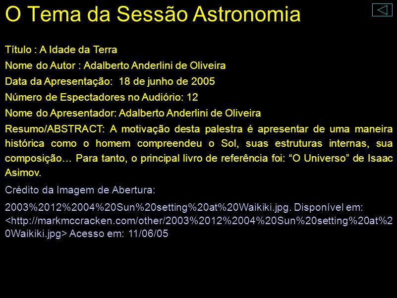 O Sol Adalberto Anderlini de Oliveira
