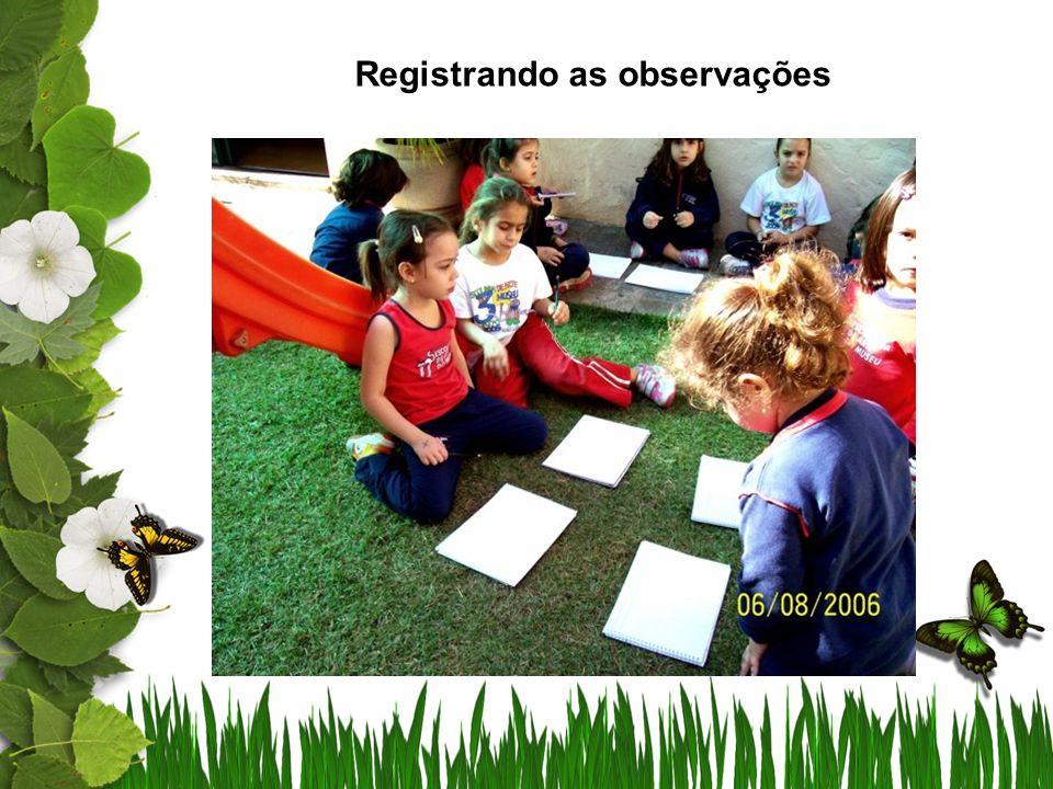 A escrita no caderno de ciências, por ter caráter informativo, pode ser elaborada oralmente pelas crianças e registrada pelo professor.
