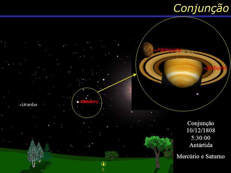 Conjunção Outra Denominação Conjunção 13/10/1590 6:47:00 Cidade do Cabo Africa do Sul Vênus e Marte Conjunção