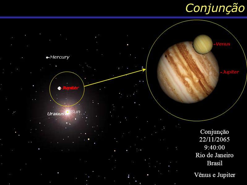 Conjunção 10/12/1808 5:30:00 Antártida Mercúrio e Saturno Conjunção