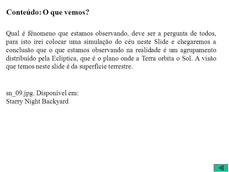 O que vemos 25/3/2004 18:25:00 São Carlos – Brasil Visão Terrestre