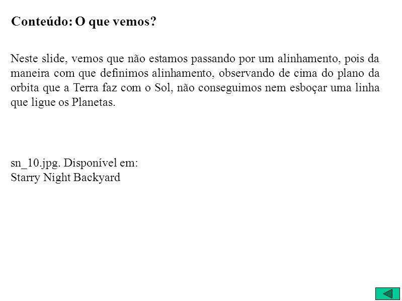 O que vemos 25/3/2004 18:25:00 São Carlos – Brasil Visão Espacial