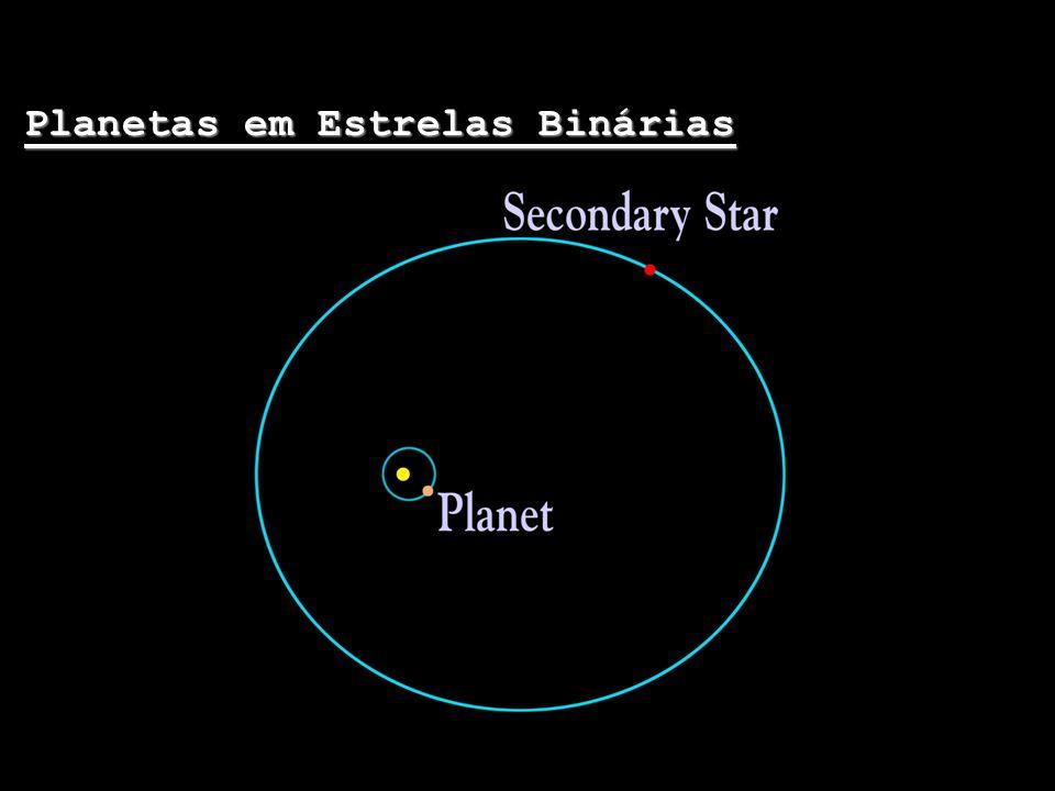 Planetas em Estrelas Binárias O primeiro planeta encontrado em órbita de um sistema binário foi descoberto este ano por astrônomos do observatório de