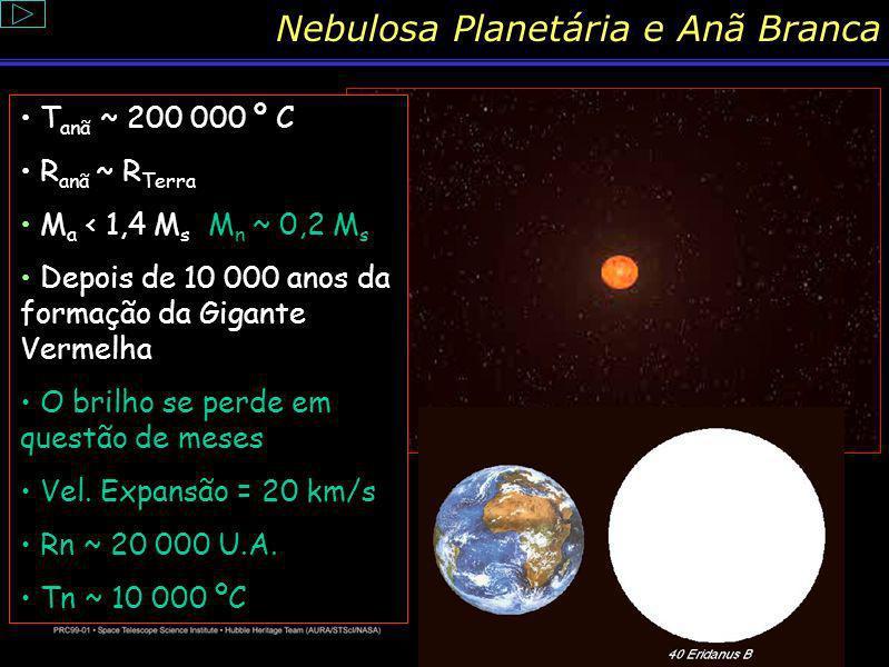 Conteúdo: Explosão Nova O centro de uma estrela de pouca massa nunca se torna quente o suficiente para queimar carbono, e as camadas mais externas exp