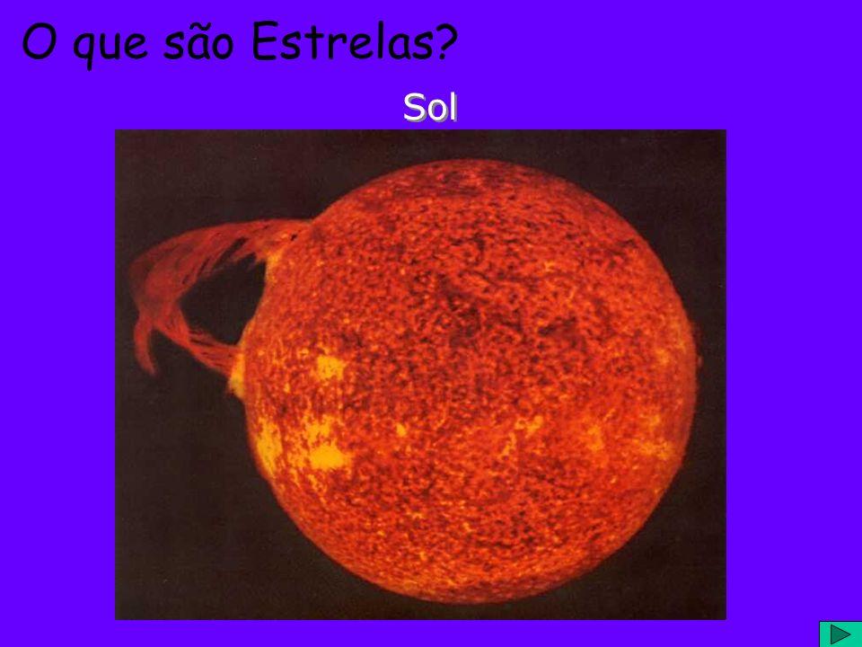 O que são Estrelas? Grandes bolas de gás......executando reações nucleares......que liberam energia Sol