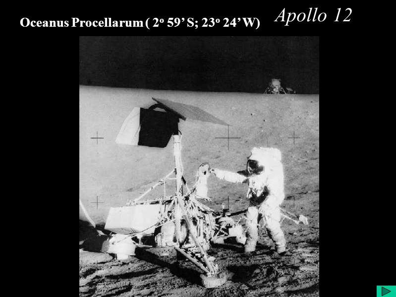 Apollo 12 Oceanus Procellarum ( 2 o 59 S; 23 o 24 W)