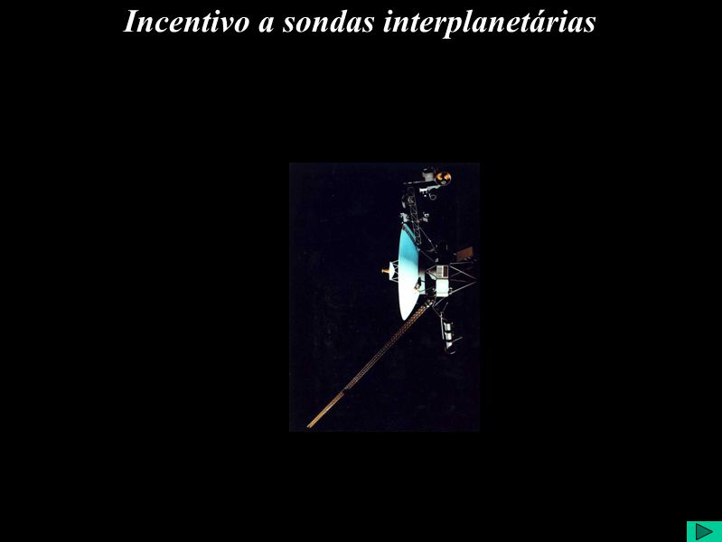 Incentivo a sondas interplanetárias