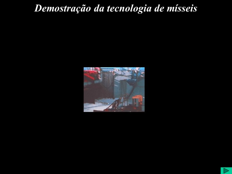 Demostração da tecnologia de mísseis