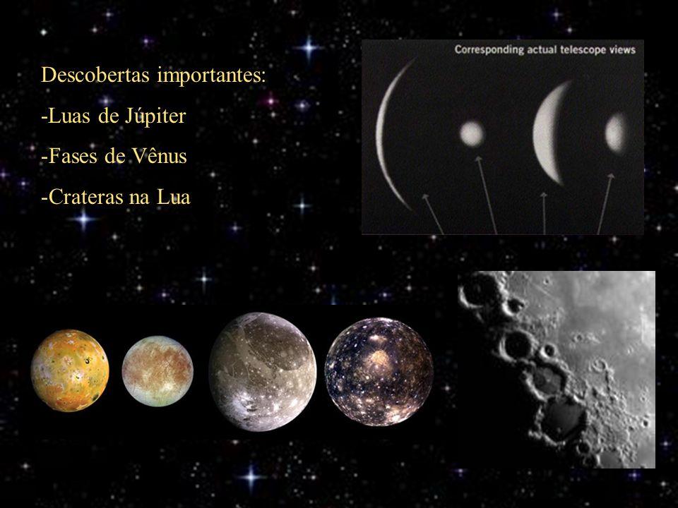 Descobertas importantes: -Luas de Júpiter -Fases de Vênus -Crateras na Lua