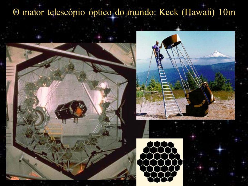 O maior telescópio óptico do mundo: Keck (Hawaii) 10m