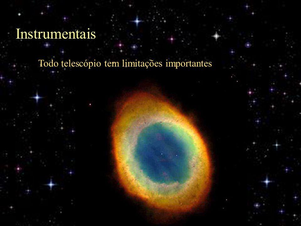 Instrumentais Todo telescópio tem limitações importantes