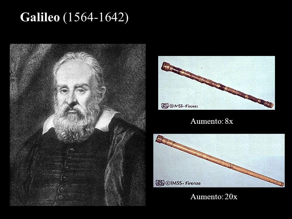 Galileo (1564-1642) Aumento: 8x Aumento: 20x