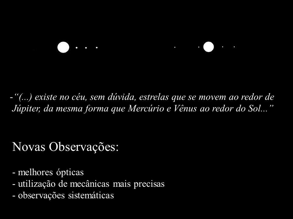 -(...) existe no céu, sem dúvida, estrelas que se movem ao redor de Júpiter, da mesma forma que Mercúrio e Vênus ao redor do Sol... Novas Observações: