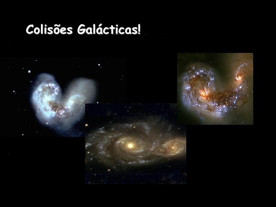 O ambiente denso dos aglomerados é responsável em parte pela evolução das próprias galáxias que dele fazem parte. Nos aglomerados, a colisão entre as