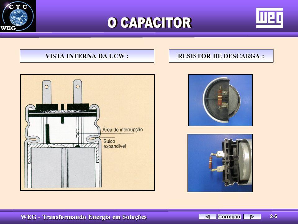 WEG - Transformando Energia em Soluções VISTA INTERNA DA UCW : RESISTOR DE DESCARGA : 2-6 Correção