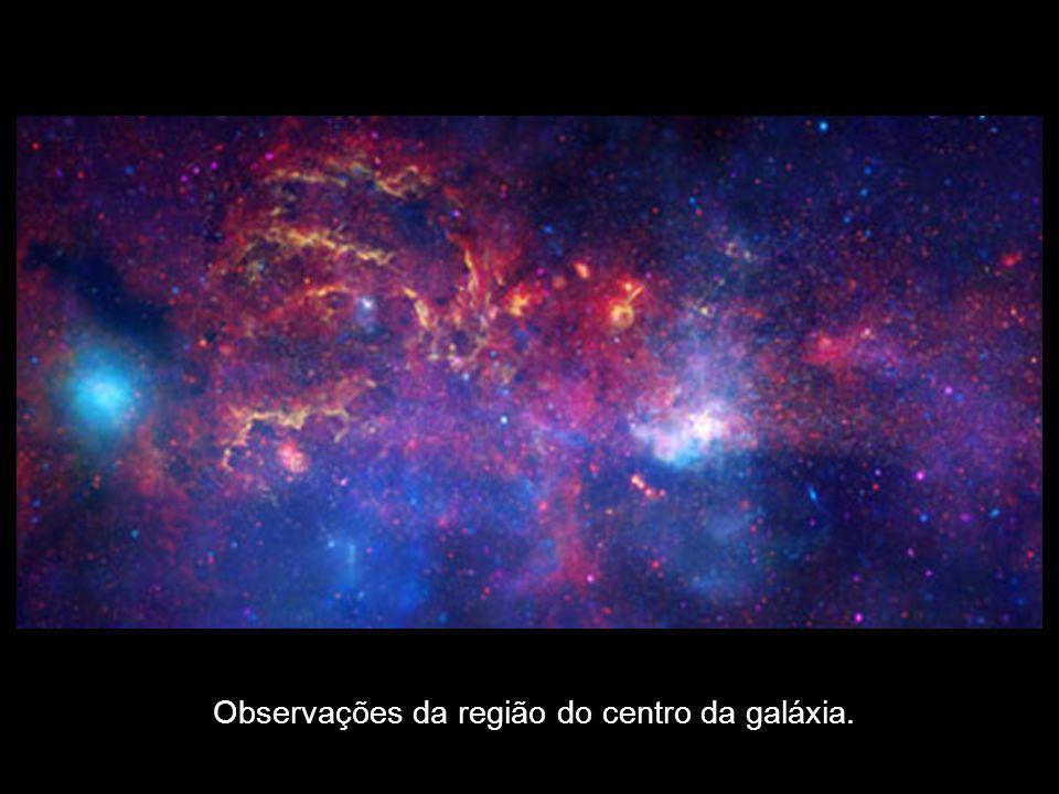 Observações da região do centro da galáxia.
