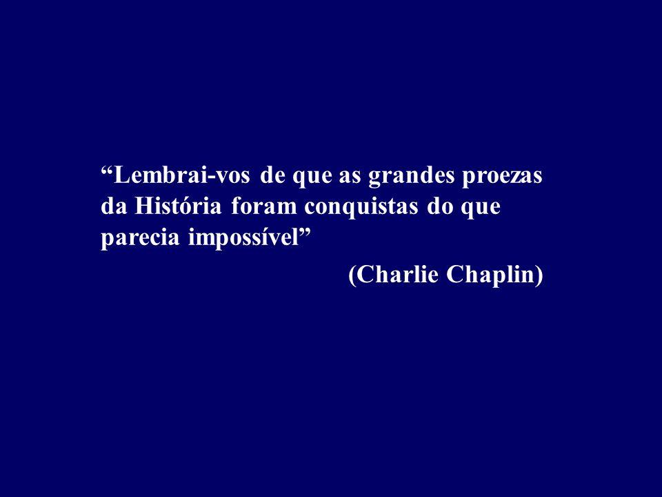 Lembrai-vos de que as grandes proezas da História foram conquistas do que parecia impossível (Charlie Chaplin)