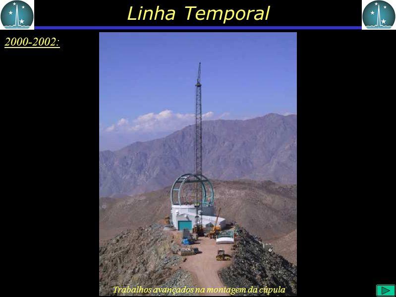 Linha Temporal 2000-2002: Trabalhos avançados na montagem da cúpula
