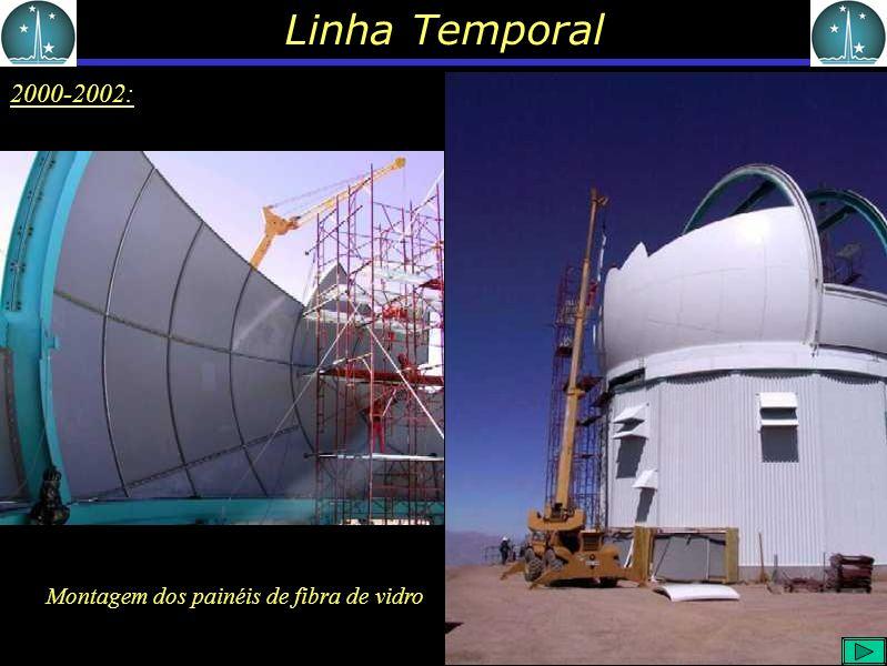 Linha Temporal 2000-2002: Montagem dos painéis de fibra de vidro