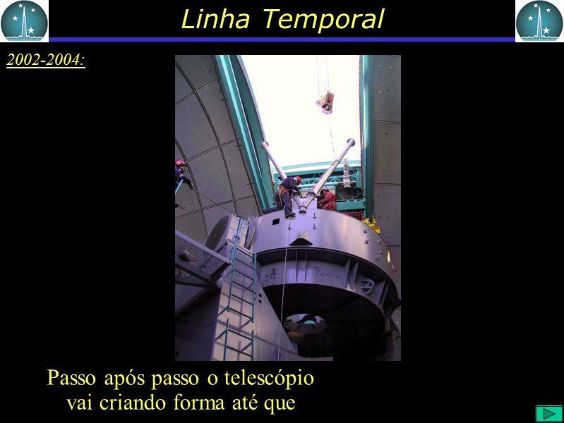 Linha Temporal 2002-2004: vai criando forma até que Passoapós passo o telescópio