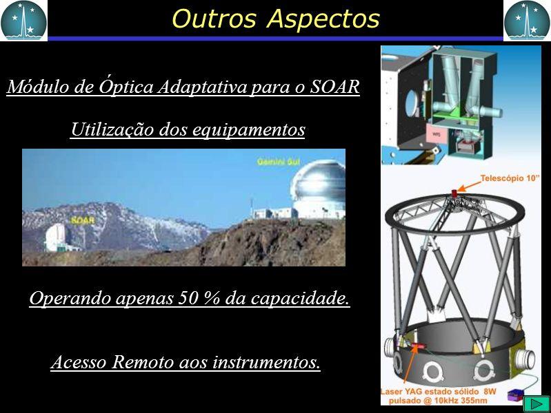 Outros Aspectos Módulo de Óptica Adaptativa para o SOAR Operando apenas 50 % da capacidade.