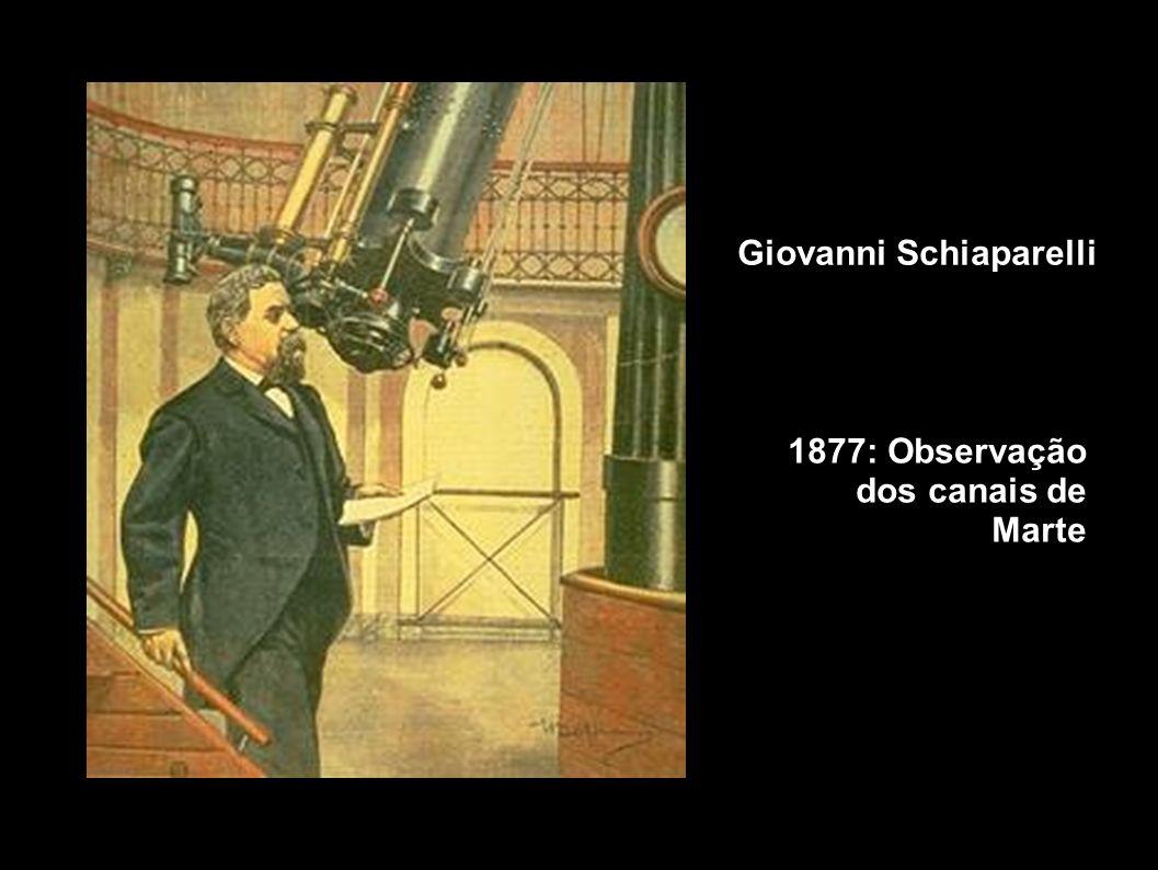 Giovanni Schiaparelli 1877: Observação dos canais de Marte