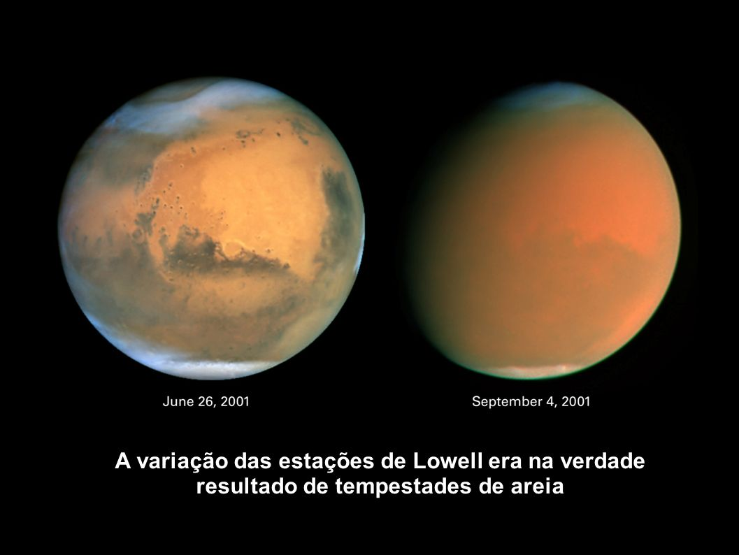 A variação das estações de Lowell era na verdade resultado de tempestades de areia
