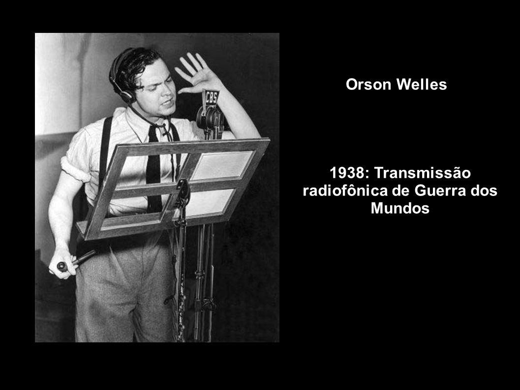 Orson Welles 1938: Transmissão radiofônica de Guerra dos Mundos