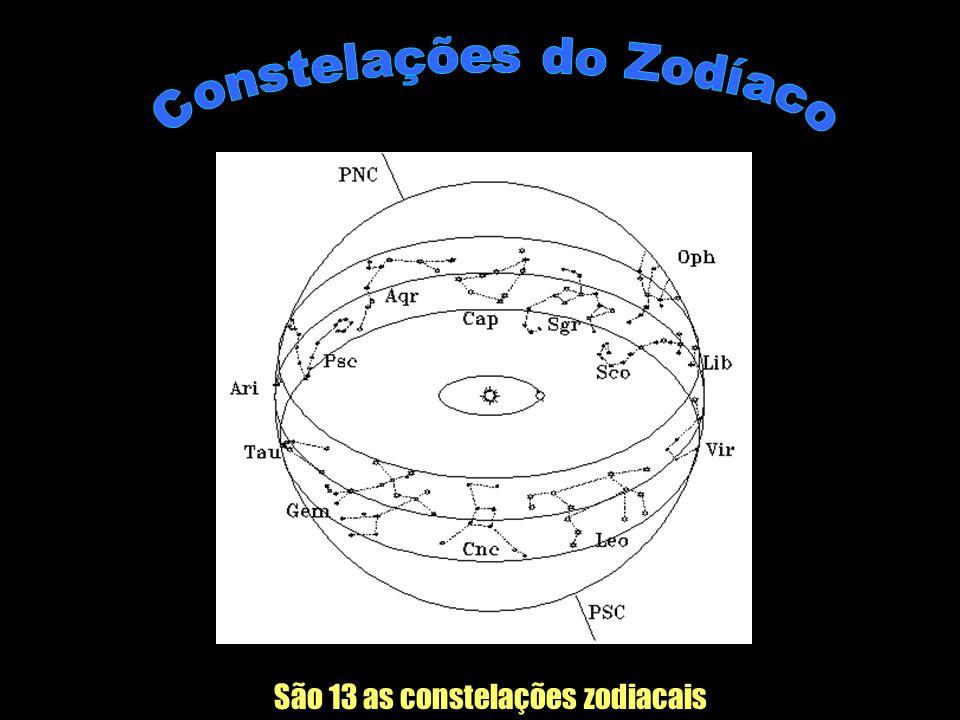 Constelações do Zodíaco São 13 as constelações zodiacais