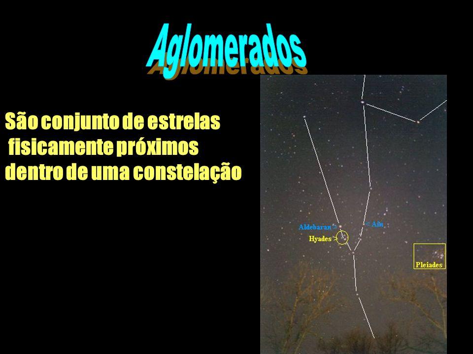 São conjunto de estrelas fisicamente próximos dentro de uma constelação