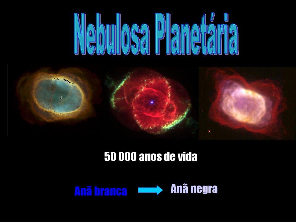 50 000 anos de vida Anã branca Anã negra