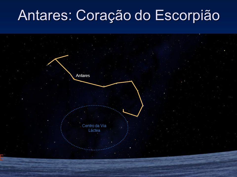 Antares: Coração do Escorpião Antares Centro da Via Láctea