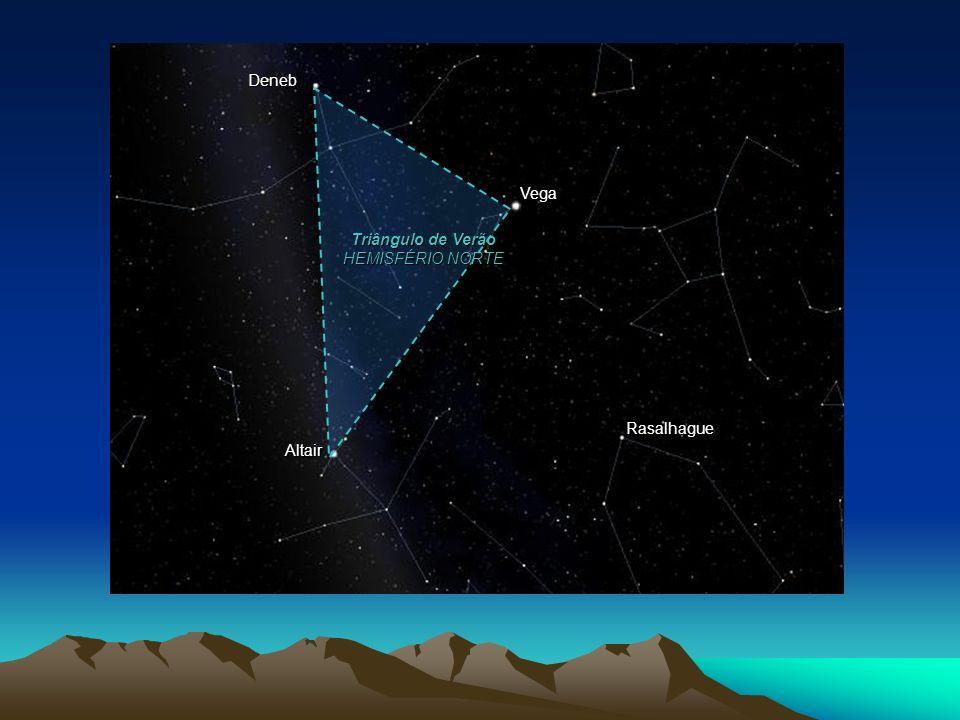 Rasalhague Altair Vega Deneb Triângulo de Verão HEMISFÉRIO NORTE