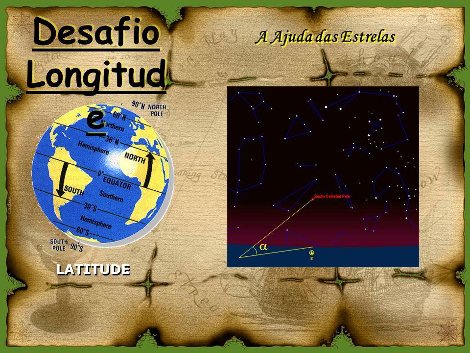 A Ajuda das Estrelas LATITUDE Desafio Longitud e Desafio Longitud e