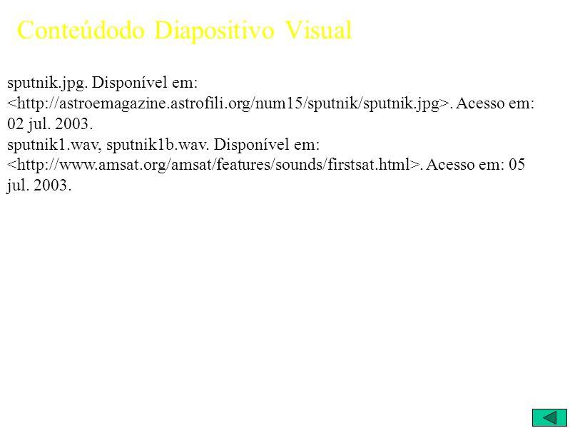 Conteúdodo Diapositivo Visual sputnik.jpg. Disponível em:.