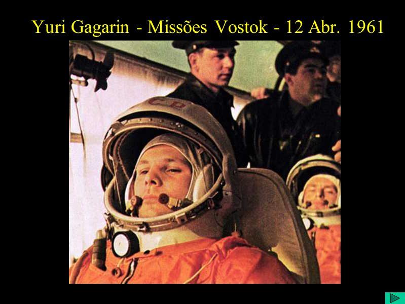 Yuri Gagarin - Missões Vostok - 12 Abr. 1961
