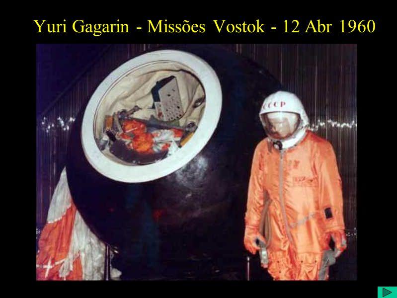 Yuri Gagarin - Missões Vostok - 12 Abr 1960
