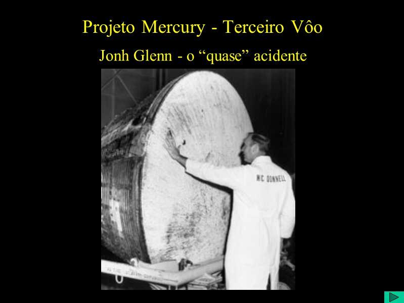 Projeto Mercury - Terceiro Vôo Jonh Glenn - o quase acidente