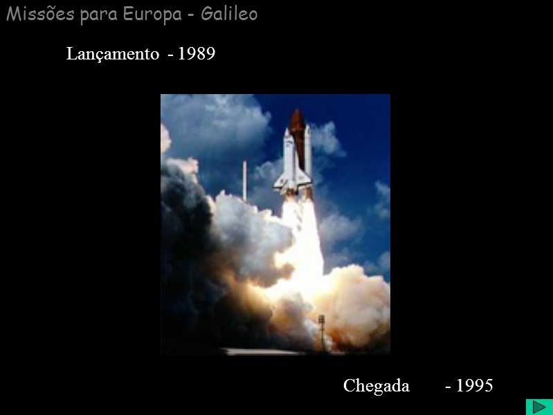 Missões para Europa - Galileo Chegada - 1995 Lançamento - 1989