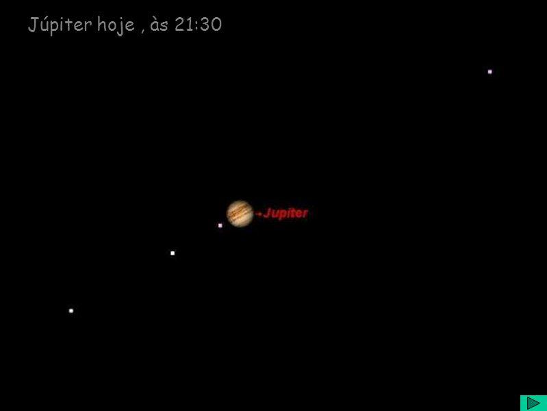 Júpiter hoje, às 21:30
