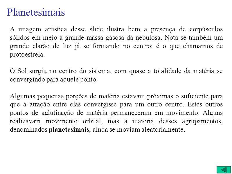 3) Planetesimais