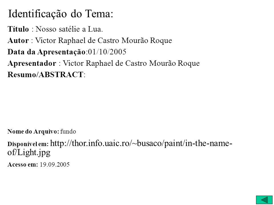 Apresentação: Victor Raphael de Castro Mourão Roque
