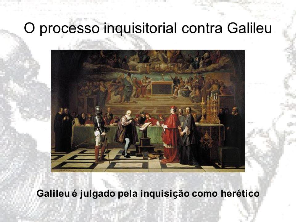 O processo inquisitorial contra Galileu Galileu é julgado pela inquisição como herético