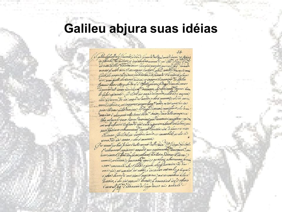 Galileu abjura suas idéias