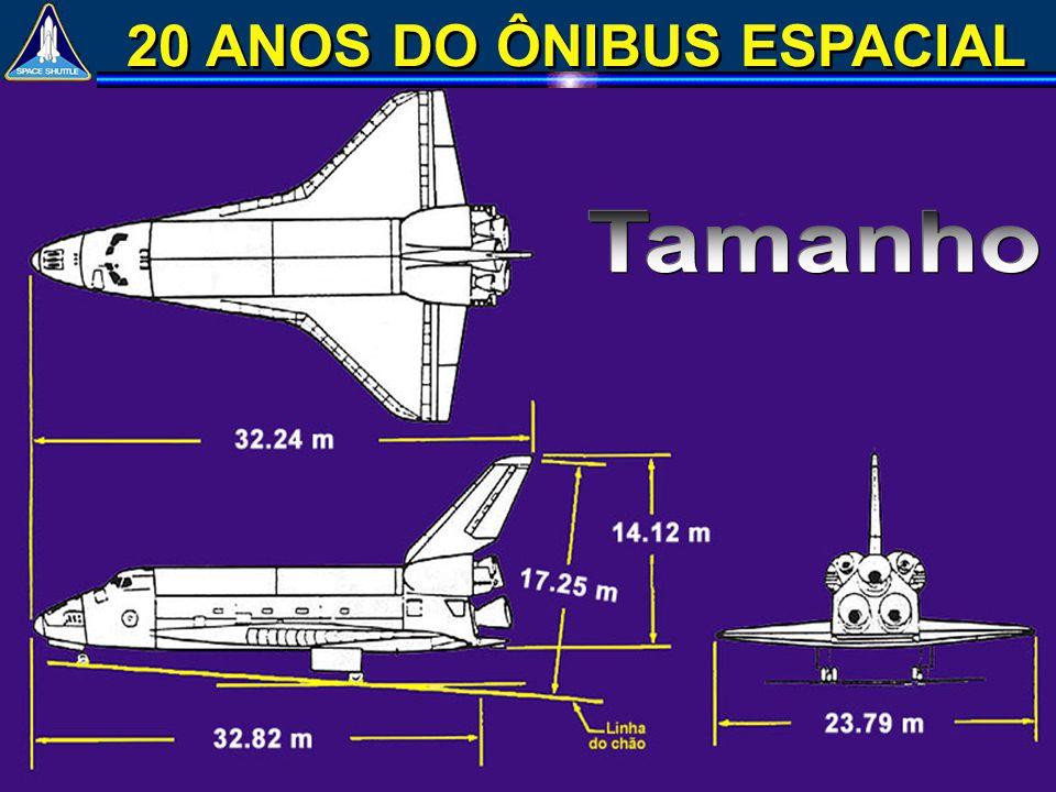 Foguetes Propulsores Sólidos (SRB) Tanque Externo (ET) 37.2 m d=3.7m 56.1 m d=8.4m 32.2 m SRB: 174 ton propelente (SRB): 998 ton ET: 30 ton propelente (ET): 722 ton ônibus: 74.8 ton carga útil (ônibus): 29/14 ton 2 027.8 ton (85% de combustível) !