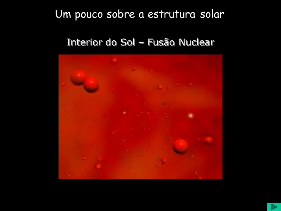 Interior do Sol – Fusão Nuclear